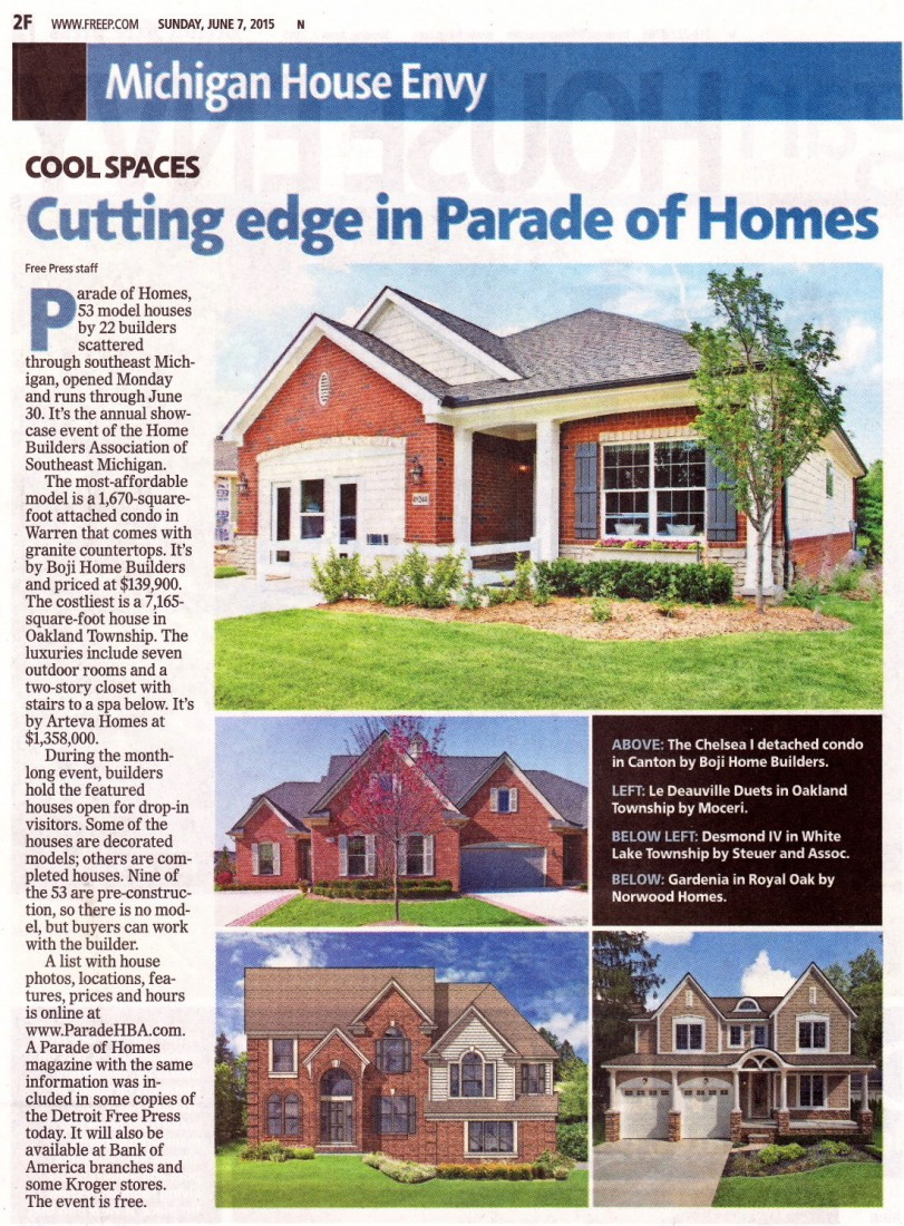 New Homes For Sale - Michigan Real Estate | Steuer & Associates Inc - 2015_Parade_of_Homes_Article_
